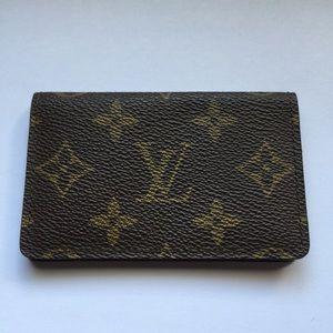 Authentic Louis Vuitton Brown Monogram Card Holder